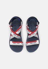 Tommy Jeans - STRAPPY - Platform sandals - twilight navy - 5