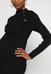 Supermom - DRESS BUTTON - Sukienka dzianinowa - black - 10