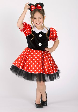 LELA POLKA DOT MINNIE MOUSE WITH CROWN  - Cocktailjurk - black-red