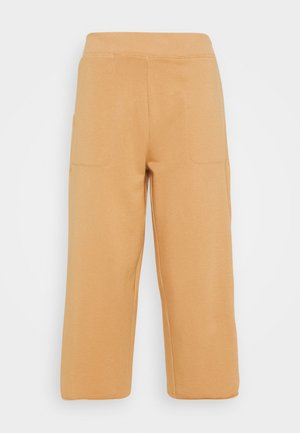 OFF MAT CROP PANT - Tracksuit bottoms - praline/shimmer