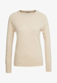 pure cashmere - CLASSIC CREW NECK  - Sweter - oatmeal - 3