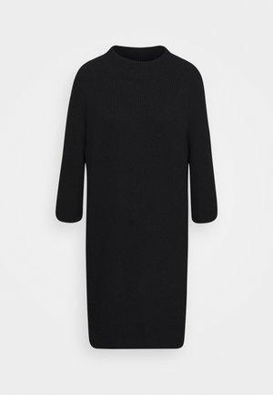 PULLOVERDRESS 3/4 SLEEVES RAGLAN - Jumper dress - pure black