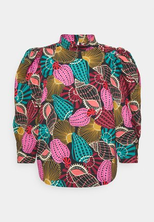 SHELL MIX LONG CUUFS BLOUSE - Blůza - multi