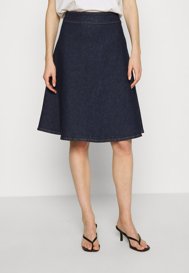 WINNIE SKIRT - Spódnica trapezowa - dark denim