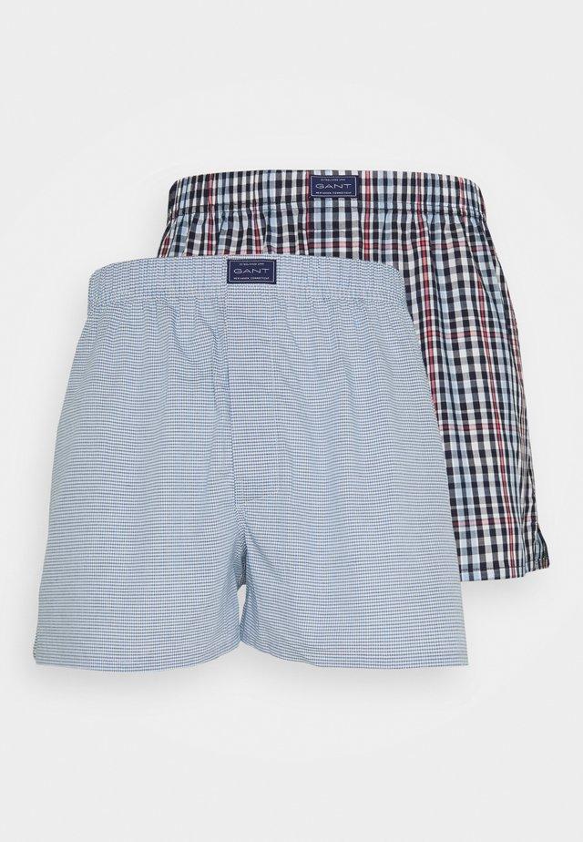 CHECK BOXER 2 PACK - Boxer shorts - classic blue