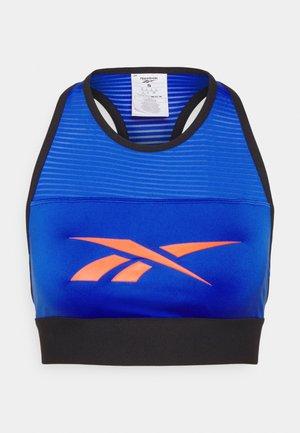 WORKOUT READY HIGH NECK SPORTS BRA - Light support sports bra - court blue