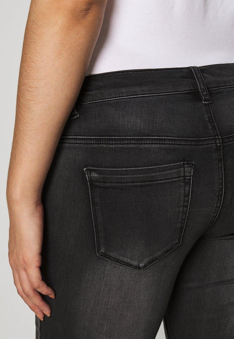 Zizzi LONG SANNA - Jeans Skinny Fit - dark grey denim/dunkelgrau-meliert 3469vN