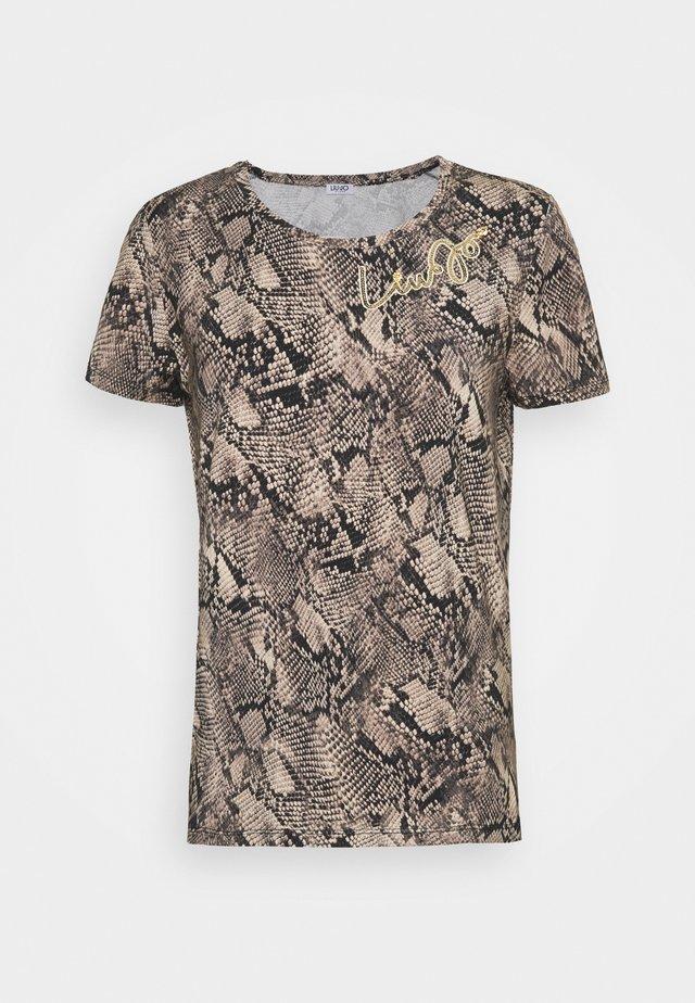 MODA - T-shirt z nadrukiem - beige