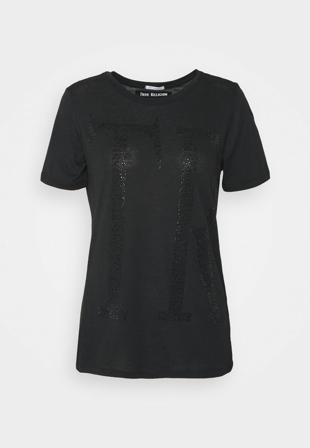 CREW NECK - T-shirt con stampa - black