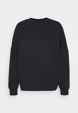 OVERSIZED CREW NECK SWEATSHIRT - Sweater - black