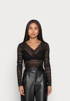 VICHIKKA NECK TOP - Long sleeved top - black