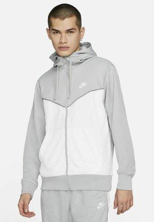 REPEAT HOODIE - Vetoketjullinen college - light smoke grey/white/white