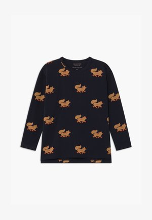 FOXES TEE UNISEX - Long sleeved top - navy/camel