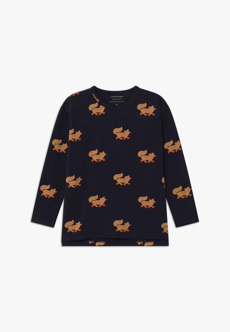 TINYCOTTONS - FOXES TEE UNISEX - Long sleeved top - navy/camel