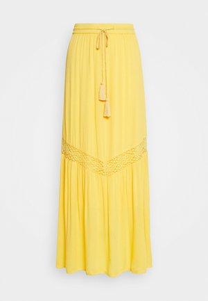 BSVICSAN LONG - Maxi skirt - buff yellow
