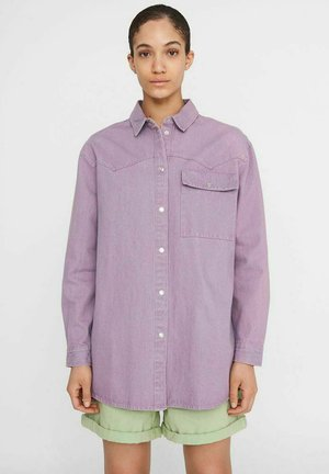 Button-down blouse - orchid bloom
