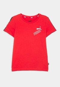 Puma - AMPLIFIED TEE  - Print T-shirt - red - 0