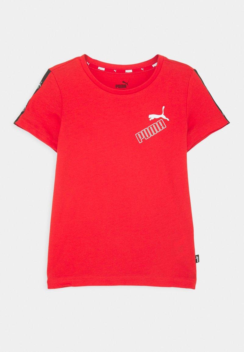 Puma - AMPLIFIED TEE  - Print T-shirt - red