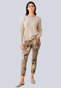 Alba Moda - Trousers - beige,schwarz - 1