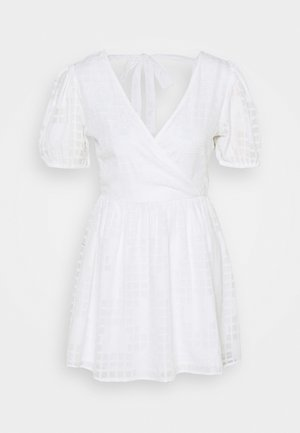 APPLIQUE MINI DRESS - Kjole - ivory