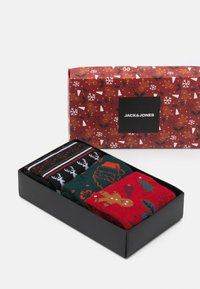 Jack & Jones - JACREINDEER SOCKS GIFTBOX 3 PACK - Socks - phantom/atlantic deep/bosso nova