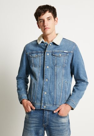 JJIJEAN JJJACKET - Džínová bunda - blue denim