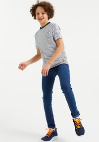 WE Fashion - Print T-shirt - dark blue - 0