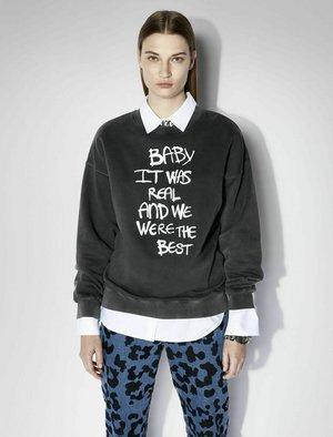 Sweatshirt - washed black