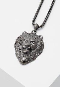 Guess - LION CHARM NECKLACE  - Necklace - gunmetal - 4