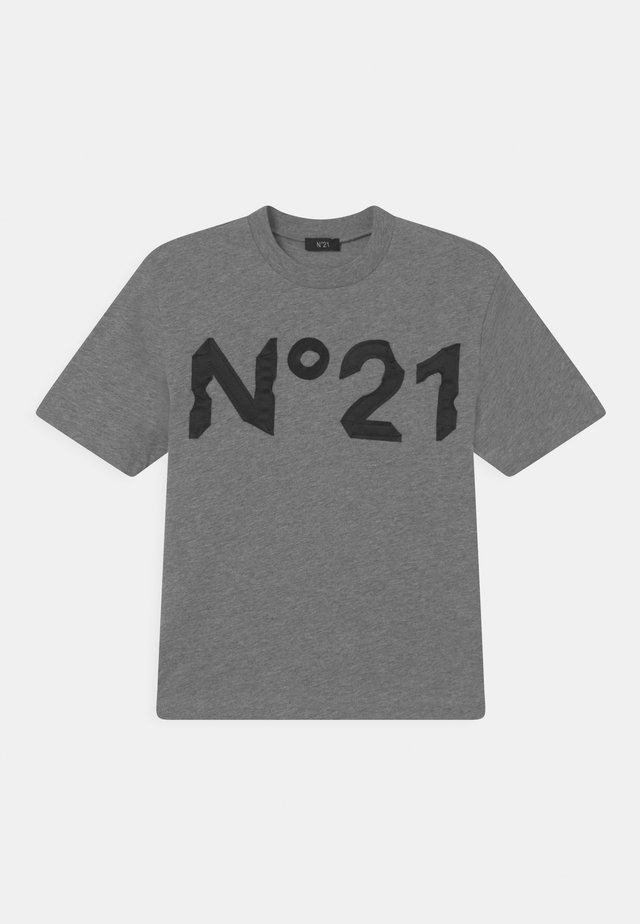 UNISEX - Print T-shirt - grey melange