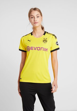 BVB BORUSSIA DORTMUND HOME REPLICA WITH EVONIK LOGO  - Pelipaita - cyber yellow/black