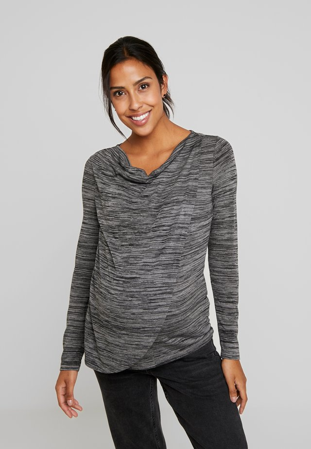 MARL COWL NURSING - Long sleeved top - charcoal