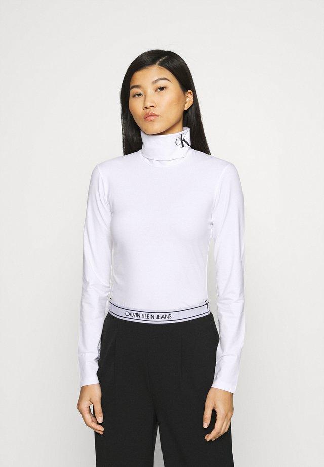 NECK ROLL NECK - Top sdlouhým rukávem - bright white/ck black