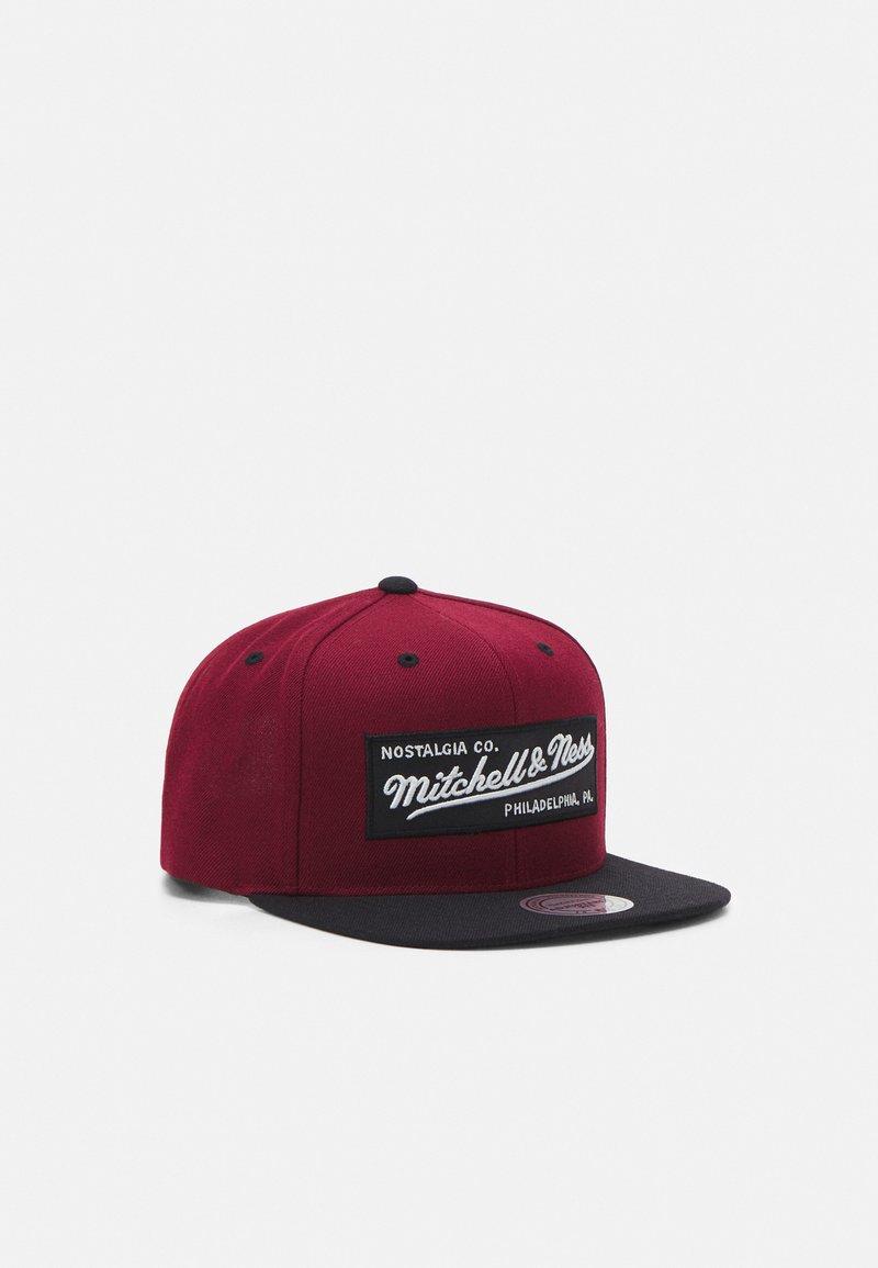 Mitchell & Ness - BOX LOGO SNAPBACK - Cap - burgandy/black