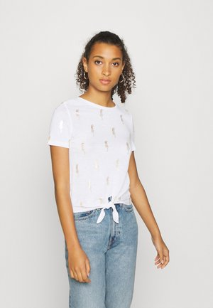 ONLBELIS LIFE KNOT BOX - T-shirt print - bright white