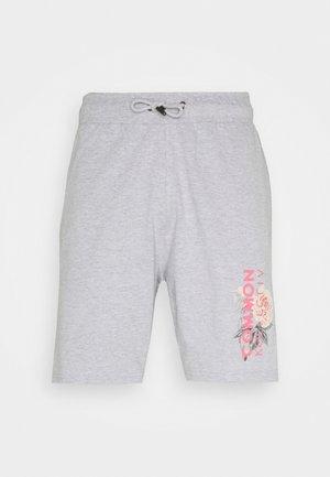 FLORAL UNISEX - Shorts - grey marl