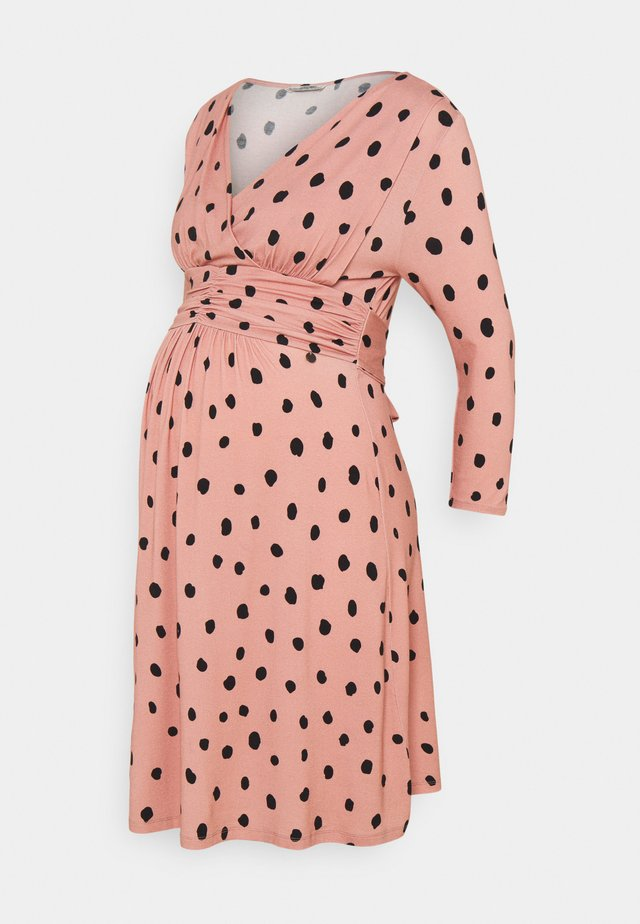 DRESS NURSING - Jerseyjurk - dusty rose