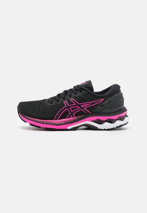 GEL-KAYANO 27 - Zapatillas de running estables - black/pink glow