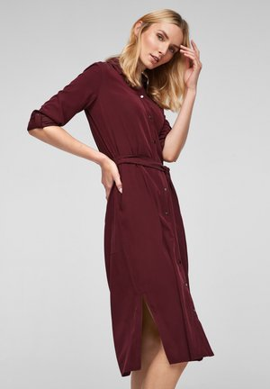 Shirt dress - dark red
