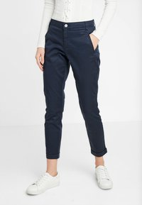 Vila - VICHINO RWRE 7/8 NEW PANT-NOOS - Chinos - total eclipse - 0