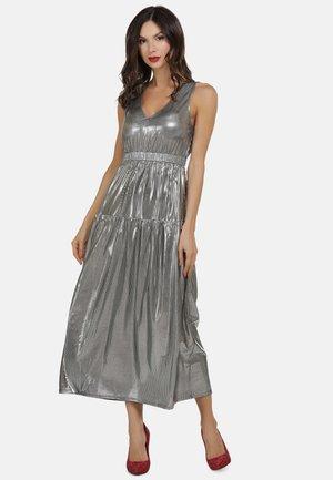 Długa sukienka - silber