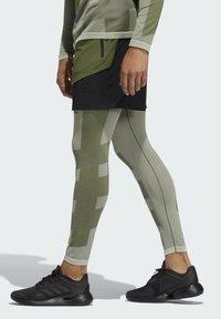adidas Performance - STUDIO TECH SHORTS - Sports shorts - green - 3