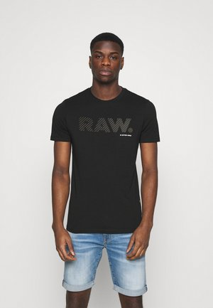 3D RAW LOGO SLIM  - Printtipaita - black