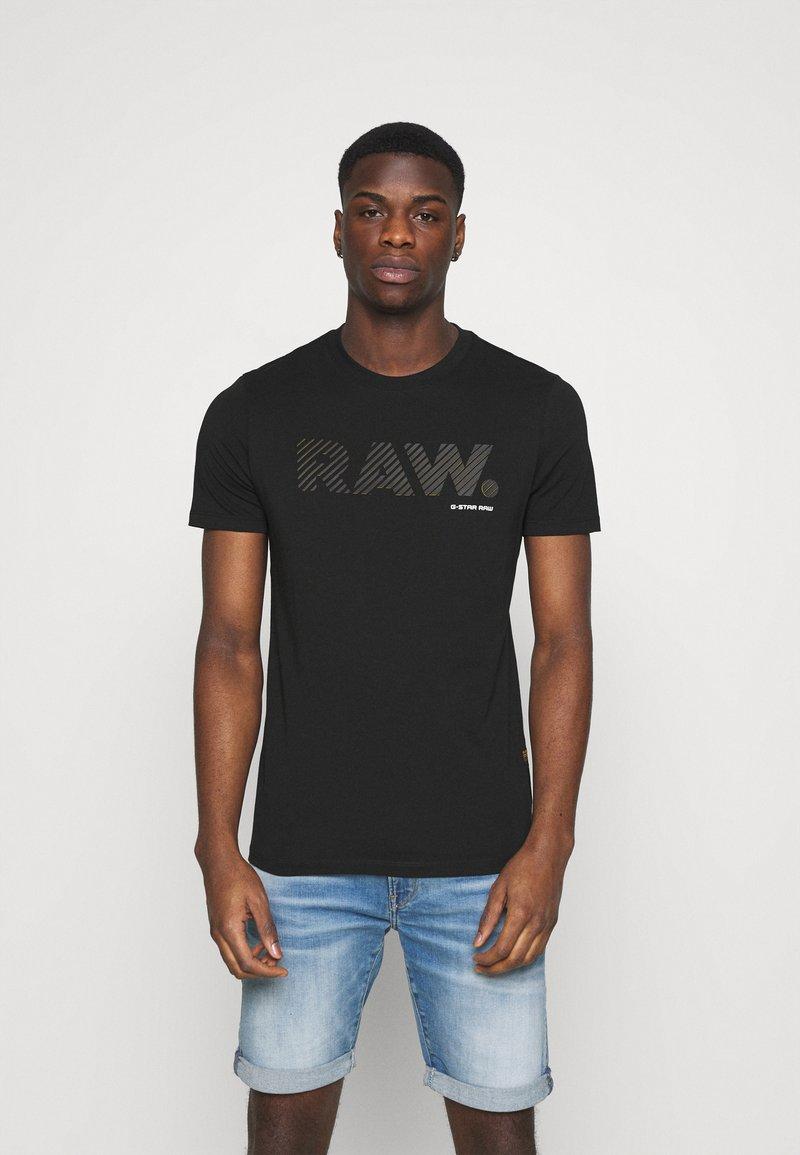 G-Star - RAW LOGO SLIM  - T-shirt med print - black