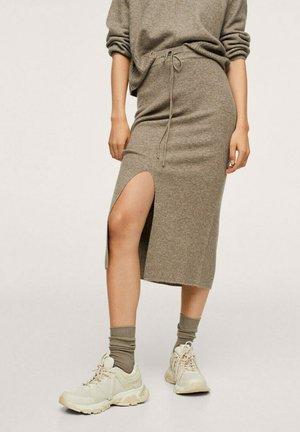 A-line skirt - marron moyen