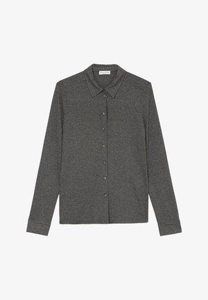 AUS  LENZING™ ECOVERO™ - Button-down blouse - deep stone melange