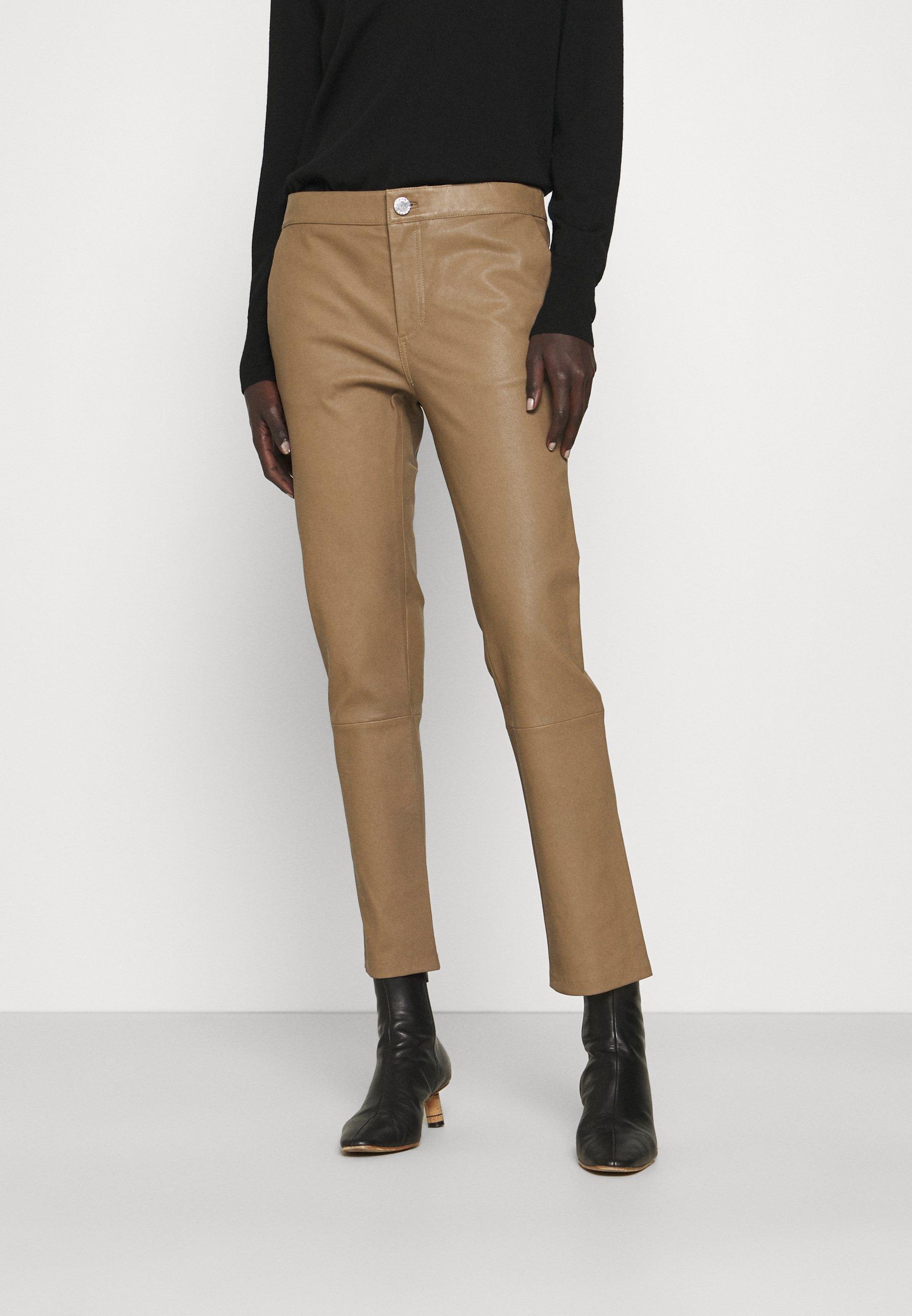 Women LEYA - Leather trousers