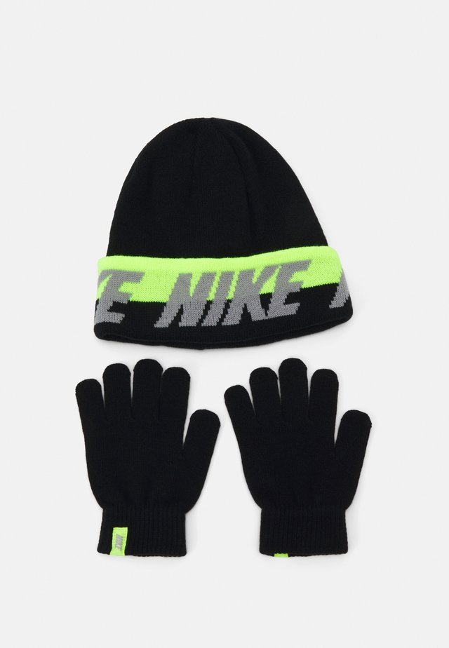 WORDMARK COLDWEATHER SET - Muts - black/volt