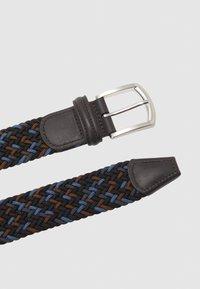 Anderson's - STRECH BELT UNISEX - Pletený pásek - blue/brown - 2