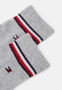 Tommy Hilfiger - MEN ICONIC QUARTER  2 PACK - Socks - grey - 1